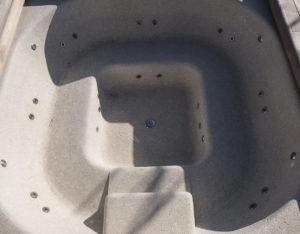 vasca idromassaggio rivestita in mosaico Botticino