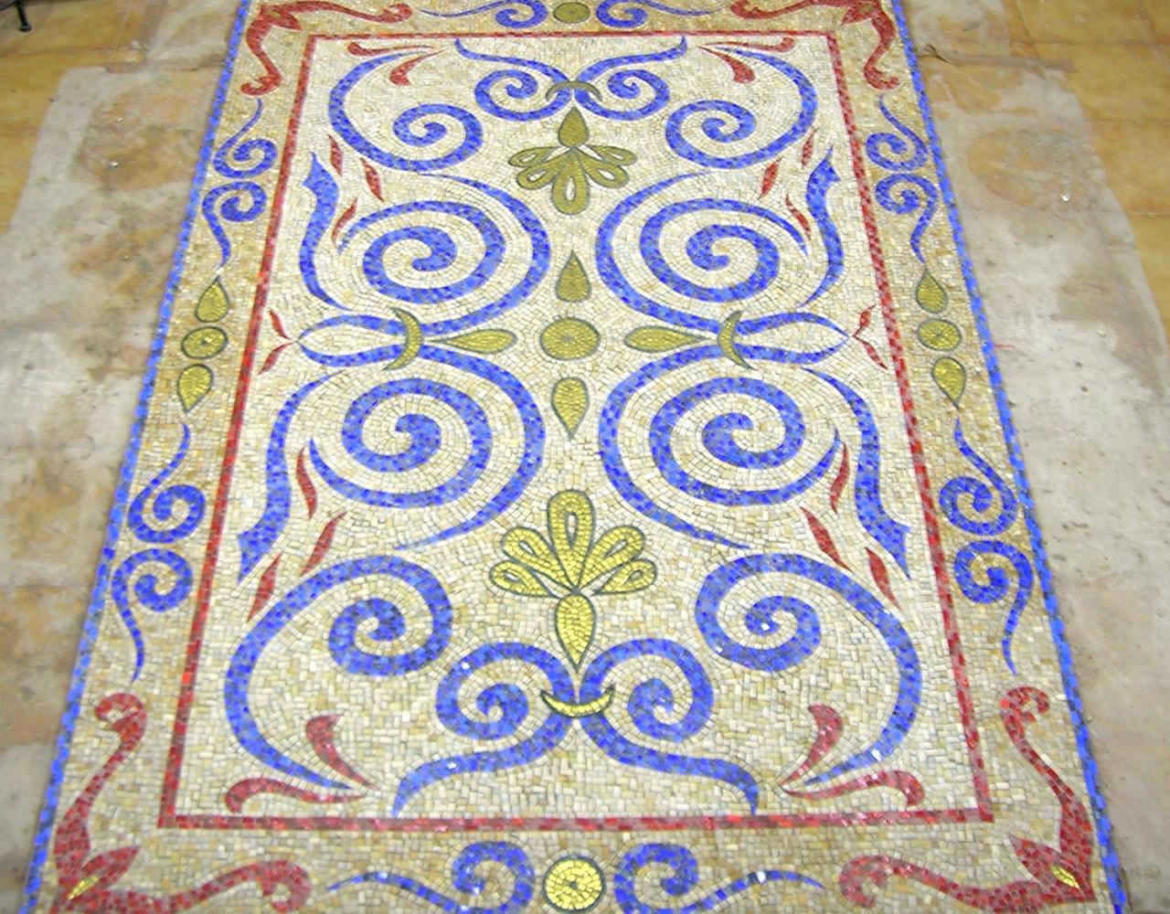 pavimenti n mosaico su commissione