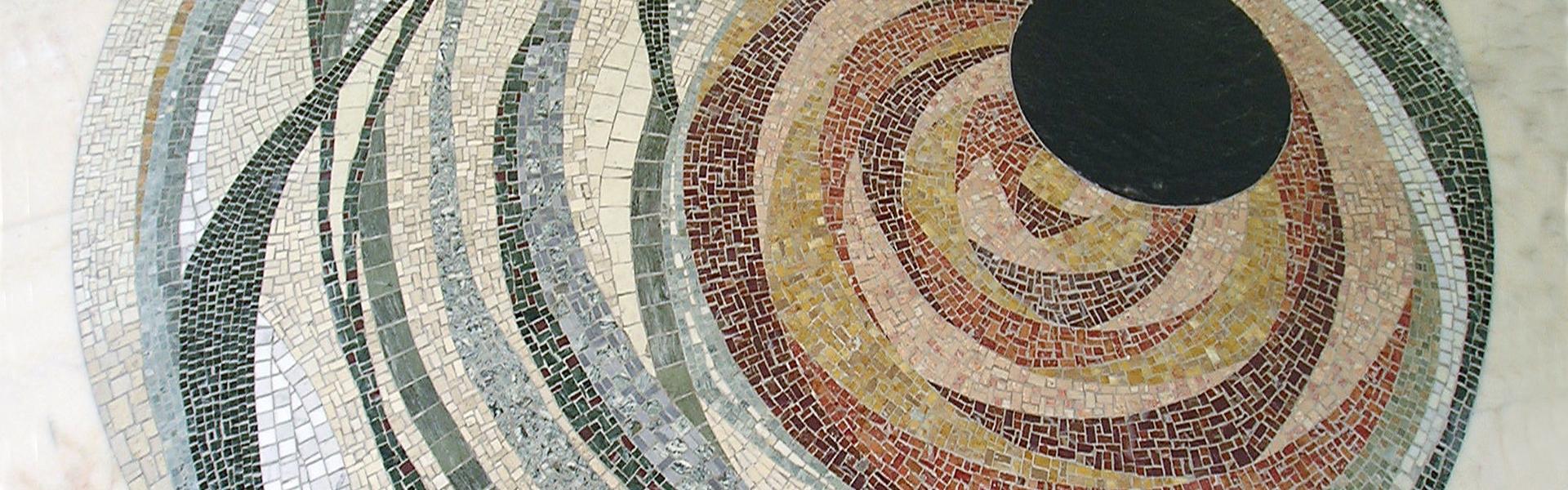 pavimento realizzato in mosaico