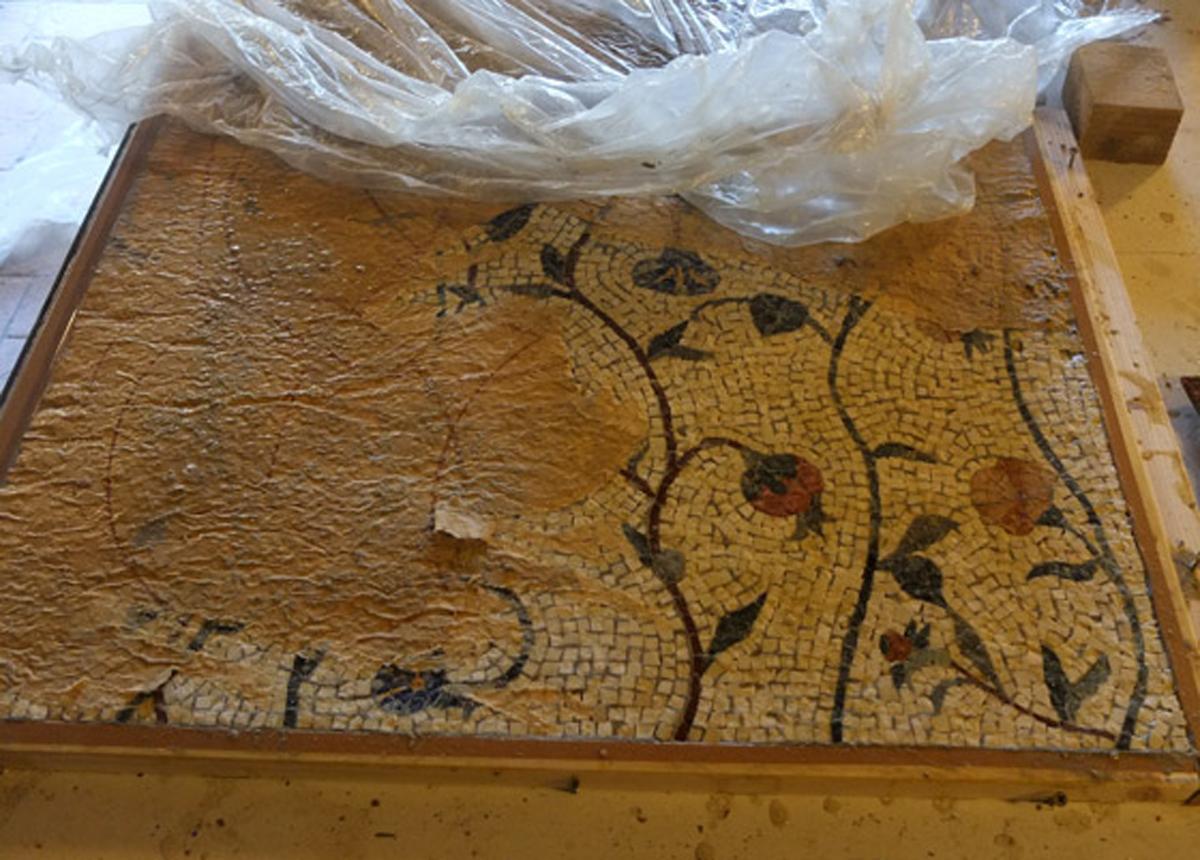 laboratorio artigianale di mosaici ad Orvieto