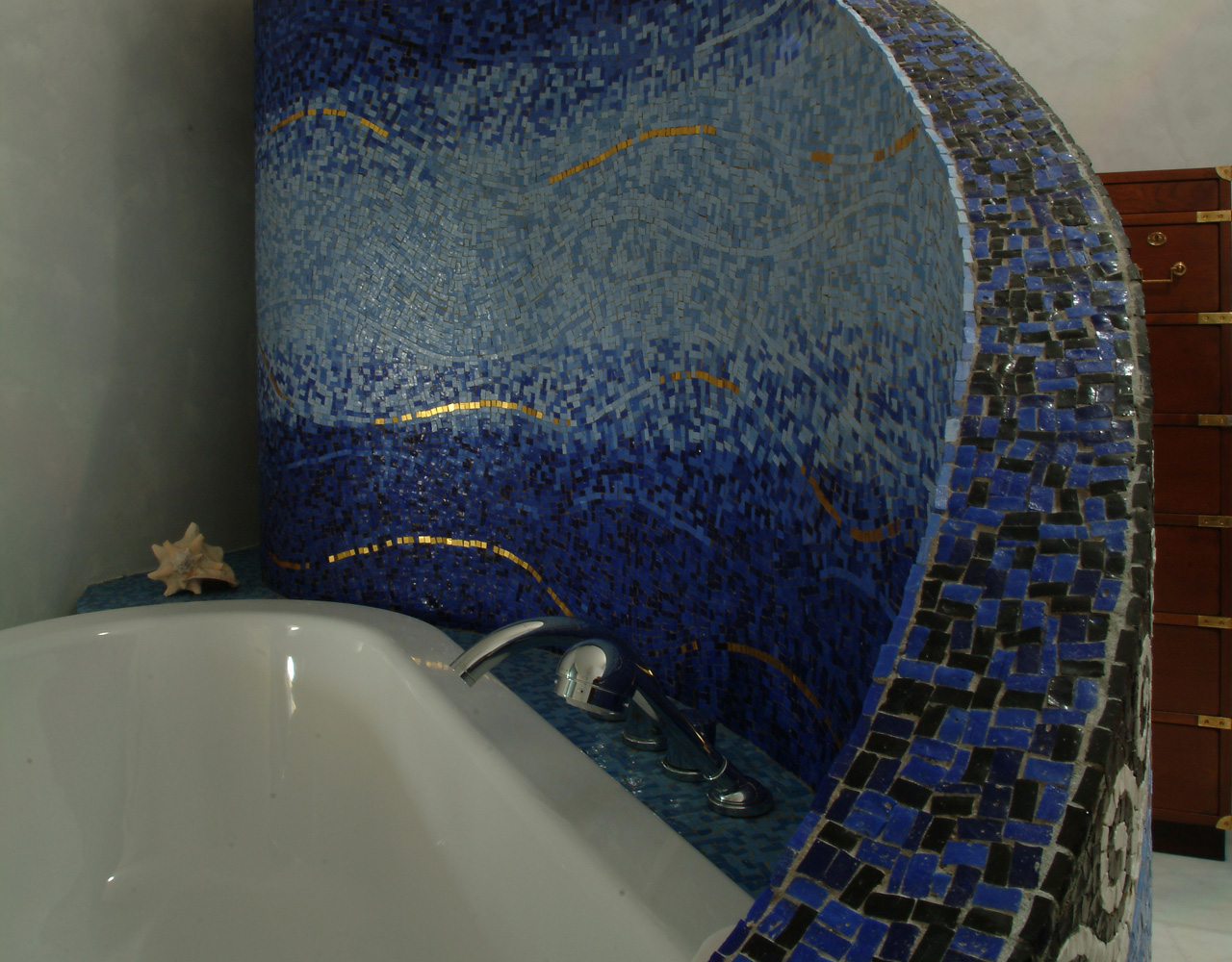 mosaic covering for bathroom