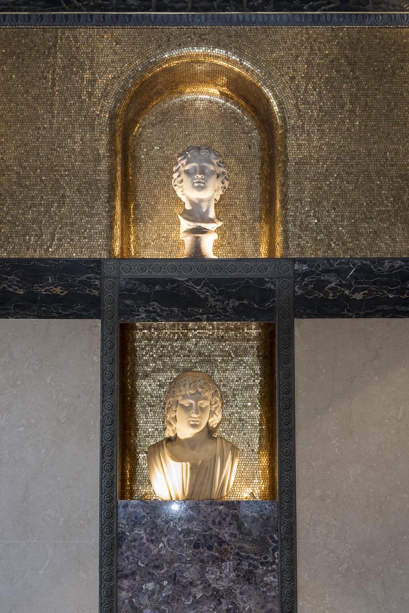 rivestimento in mosaico tessere con foglia di oro zecchino