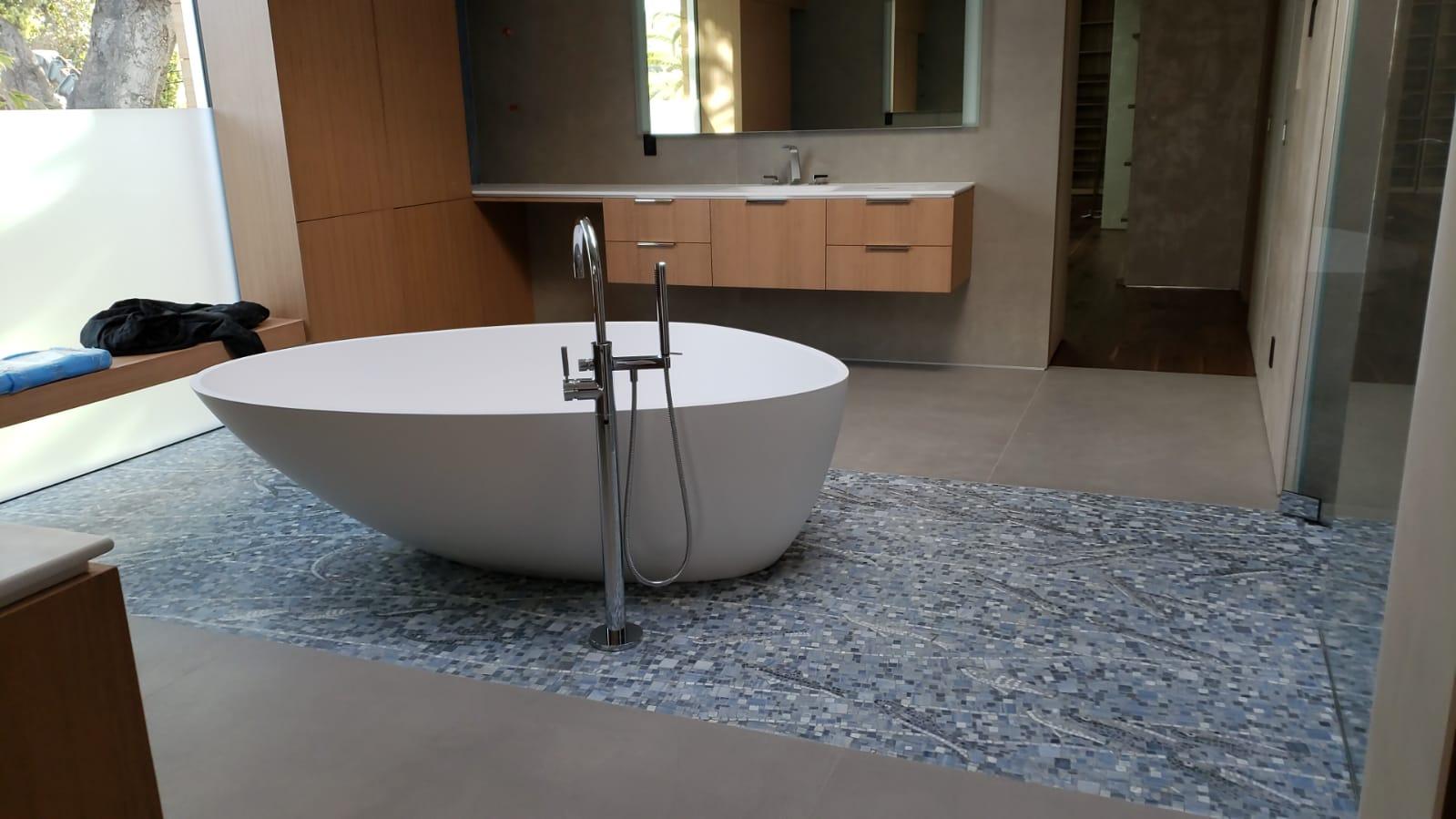 pavimento in mosaico per bagno